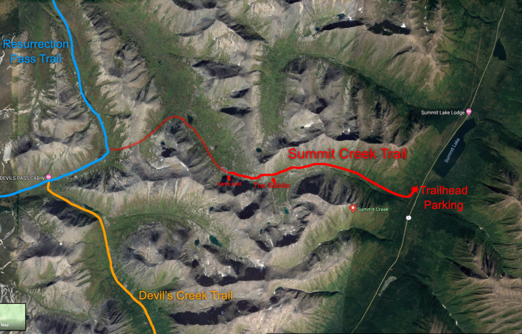 Summit Creek Trail Map